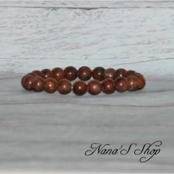 Bracelet élastique Jaspe rouge 8mm
