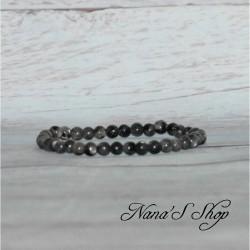 Bracelet fin élastique Labradorite 4mm