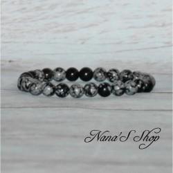 Bracelet élastique Obsidienne