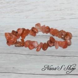 Bracelet élastique Cornaline, Chips