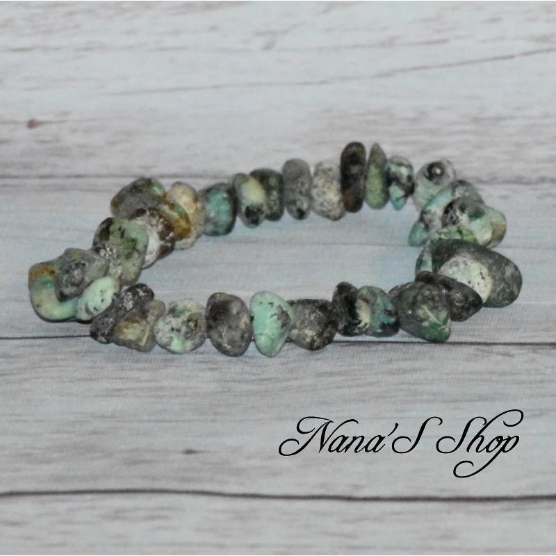 Bracelet élastique Turquoise Africaine, Chips