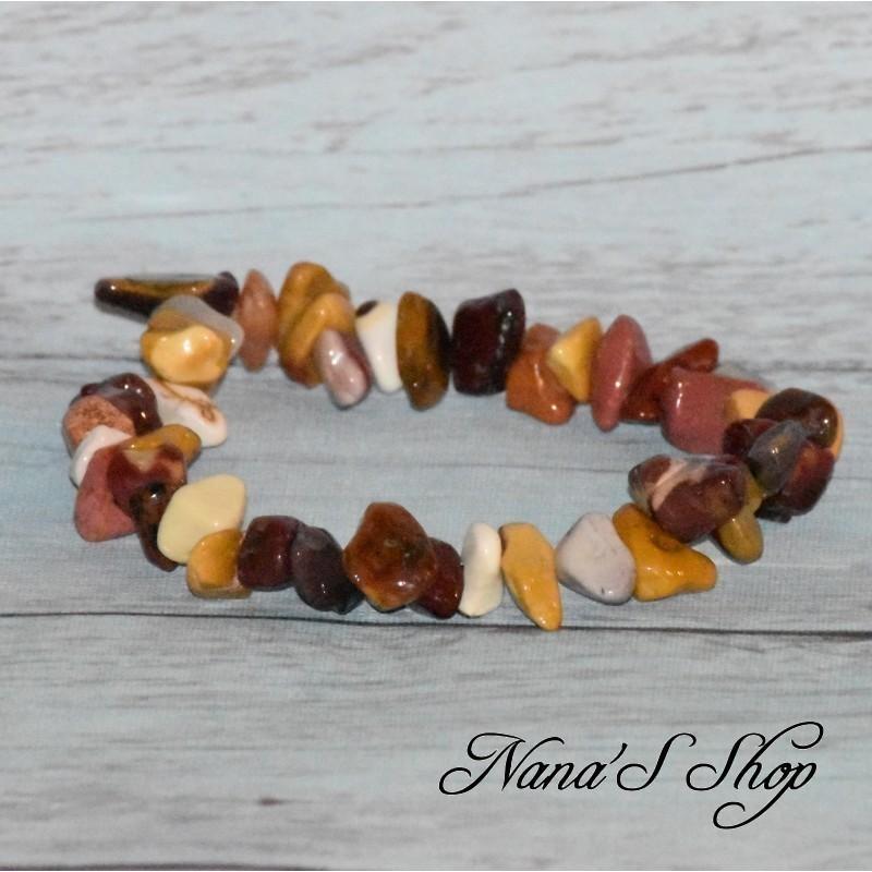 Bracelet élastique Jaspe Mokaïte, Chips